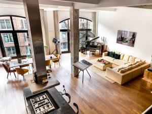 keuken, eethoek en woonkamer