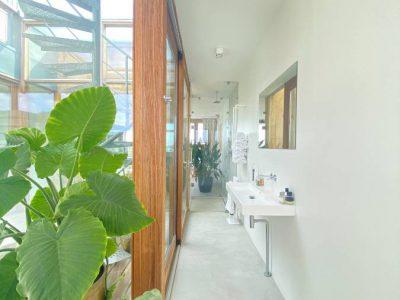 patio en badkamer