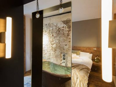 open badkamer, slaapkamer